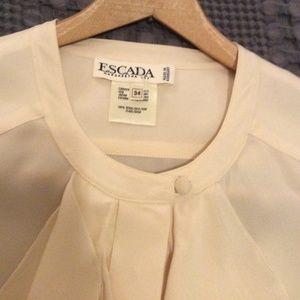 Beautiful Silk Escada Poet Sleeve Ruffle Shirt (4)